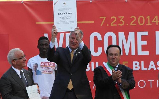 BILLE DE BLASIO VISIT  SANT' AGATA DE GOTI, ITALY